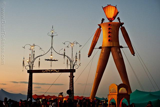 Decorative Portal to The Burning Man Caravansary soak