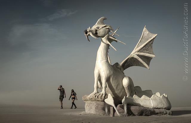 Dragon taking off