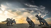 Historic animals in desert