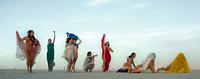 8 dancing burning man girls