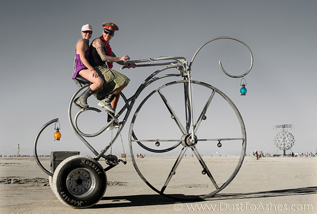 Oversized wheel tricycle