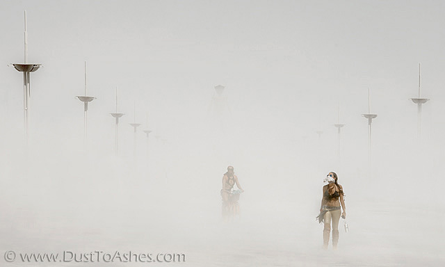 Complete Burning Man white out