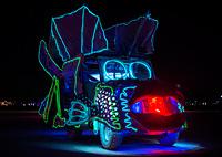 Neon Fish car