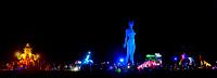 Blue woman statue