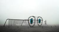 Art installation of sunglasses