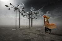 Chrome Art Wind Turbines
