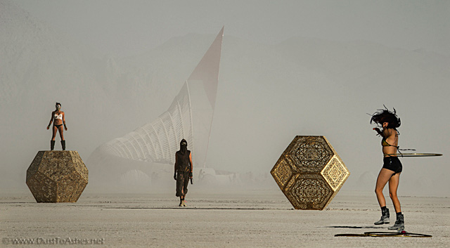 People in the dust storm
