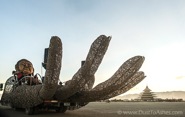 Reaching hand of Buddha God