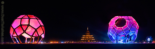 Night colors of Burning Man