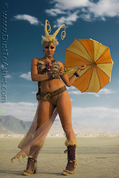 Beautiful Burning Man woman