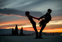 Tilting Silhouettes of Girls