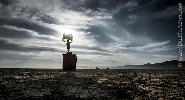 Orientation point in desert
