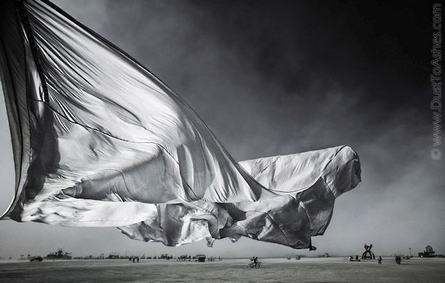 Giant Comforter sheet in the storm