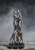 Man and woman holding each other