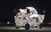 Dog art car
